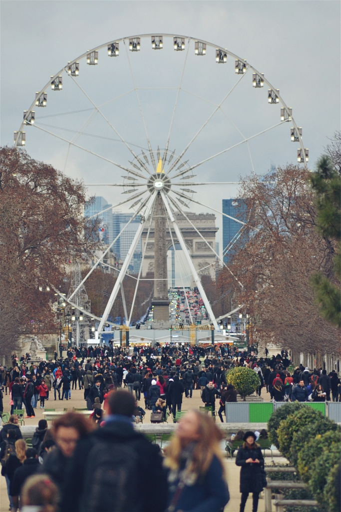 The Ferris Wheel and The Luxor Obelisk on Place de la Concorde